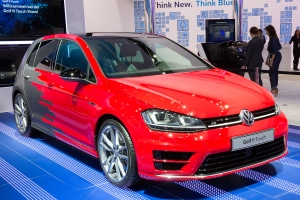 Red Volkswagen Golf